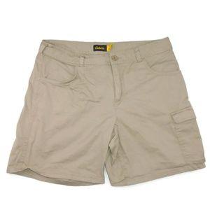 Cabela's Khaki Cargo Shorts Size 10